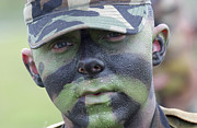 U.s. Army Soldier Wearing Camouflage Print by Stocktrek Images