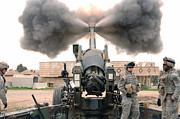 Artillery Framed Prints - U.s. Army Soldiers Conduct Framed Print by Stocktrek Images