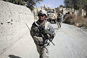 Foot Patrol Photos - U.s. Army Soldiers On A Foot Patrol by Stocktrek Images