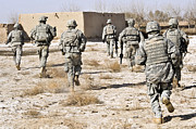 Operation Enduring Freedom Photos - U.s. Army Soldiers Respond To A Small by Stocktrek Images