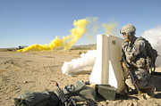 Communication Photos - U.s. Army Specialist Calls In For An by Stocktrek Images