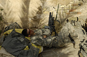 Minotaur Photo Posters - U.s. Army Specialist Takes A Nap Poster by Stocktrek Images