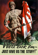 World War Posters - US Army World War Two Poster by War Is Hell Store