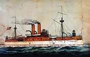 1898 Prints - U.s. Battleship Maine 1898 Print by Granger