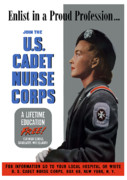 Nurse Framed Prints - US Cadet Nurse Corps Framed Print by War Is Hell Store