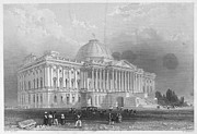 Senate Prints - U.s. Capitol, 1839 Print by Granger