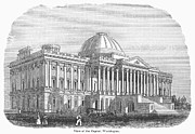 Senate Prints - U.s. Capitol, 1848 Print by Granger