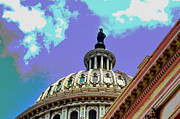 U.s. Capitol Dome Prints - U.S. Capitol Building Dome Print by Les Mayers