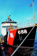 1987 Metal Prints - US Coast Guard Ship Metal Print by Thomas R Fletcher