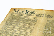 Constitution Posters - U.s Constitution Poster by Photo Researchers, Inc.