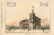 Government Painting Posters - U.S. Court House and Post Office. San Antonio TX. 1887 Poster by M E Bell