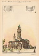Galveston Paintings - U.S. Custom House and Post Office. Gaveston TX. 1887 by M E Bell