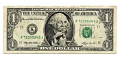 Dollar Bill Posters - Us Dollar Bill, George Washington Parody Poster by Smetek