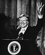 1980s Framed Prints - Us Elections. Us President Jimmy Carter Framed Print by Everett