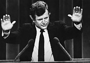 Senator Kennedy Metal Prints - Us Elections. Us Senator Edward Kennedy Metal Print by Everett