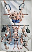 Puck Framed Prints - U.s. Grant Cartoon, 1880 Framed Print by Granger