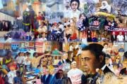 George Bush Paintings - US History the first ten years 21st century by Leonardo Ruggieri