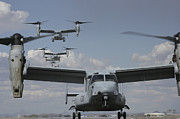 Osprey Tapestries Textiles - U.s. Marine Corps Mv-22 Osprey by Stocktrek Images
