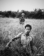 Cold War Era Art - Us Marine With Viet Cong Pow. A Marine by Everett
