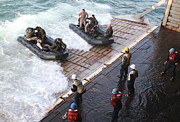 Inflatable Photos - U.s. Marines Arrive At The Stern Gate by Stocktrek Images