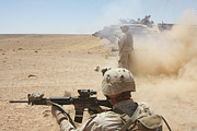 U.s. Marines Fire Several Print by Stocktrek Images
