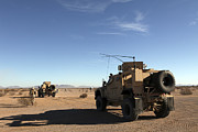 Mrap Photos - U.s. Marines Guide M-atvs by Stocktrek Images