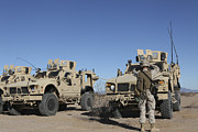 Mrap Photos - U.s. Marines Guides A Mine Resistant by Stocktrek Images