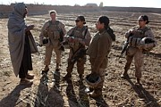 Civilians Photos - U.s. Marines In Afghanistan Assigned by Everett