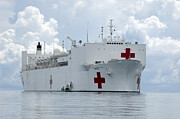 U.s. Naval Hospital Ship Usns Mercy Print by Stocktrek Images