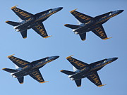 Flying Craft Prints - US Navy Blue Angels - 5D18965 Print by Wingsdomain Art and Photography