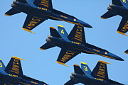 Jet Art - US Navy Blue Angels - 5D18966 by Wingsdomain Art and Photography