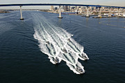 Patrol Prints - U.s. Navy Patrol Boats Conduct Print by Stocktrek Images