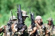 Us Navy Seals In Warfare Training Print by Everett