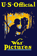 World War One Digital Art - U.S. Official War Pictures by War Is Hell Store