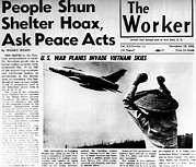 Headlines Prints - Us Planes Invade Vietnam Skies. An Print by Everett