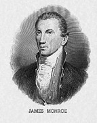 Us President Prints - Us President James Monroe Print by Everett