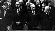 Eisenhower Photos - Us Presidents. From Left Us President by Everett