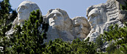 Rapid City Metal Prints - US Presidents on Mt Rushmore Metal Print by Jon Berghoff