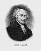 President Adams Framed Prints - Us Presidents. Us President John Adams Framed Print by Everett