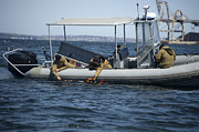 U.s. Sailors Deploy An Unmanned Print by Stocktrek Images