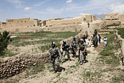 Logar Prints - U.s. Soldiers Conduct A Dismounted Print by Stocktrek Images