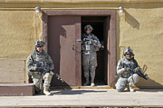 Vigilant Posters - U.s. Soldiers On Guard At Fort Irwin Poster by Stocktrek Images