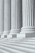 Architectural Detail Photos - US Supreme Court Building IV by Clarence Holmes