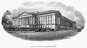 Department Prints - U.s. Treasury Department Print by Granger