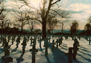 Netherlands Paintings - US War Cemetery in Margraten by Nop Briex