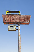 Y120907 Art - Usa, Arizona, Wakeup, Low Angle View Of Rusted Motel Sign by Bryan Mullennix