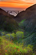 Bixby Bridge Metal Prints - Usa, California, Big Sur, Bixby Bridge Metal Print by Don Smith