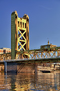 Y120907 Art - Usa, California, Sacramento, Tower Bridge Over Sacramento River by Bryan Mullennix