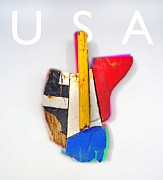 Montage Mixed Media - Usa by Charles Stuart