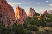 Y120907 Art - Usa, Colorado, Colorado Springs, Garden Of Gods, Rock Formations by Bryan Mullennix
